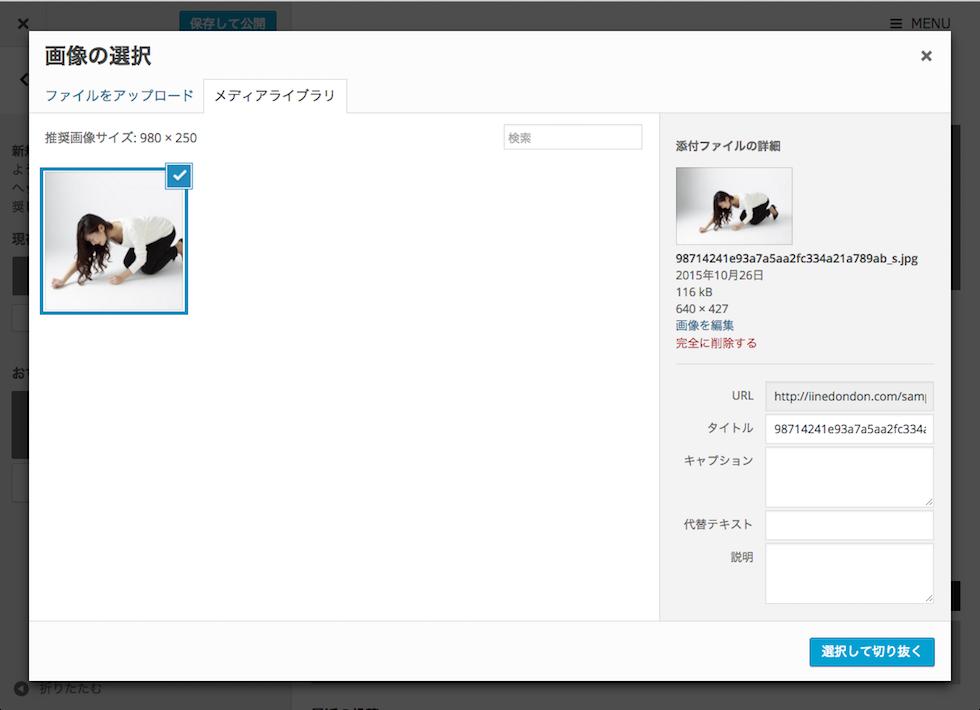 AFFINGER設定/ヘッダー画像/画像の選択